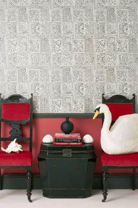 lifestyle image of cole & son mariinsky - bellini wallpaper - 4 colours available