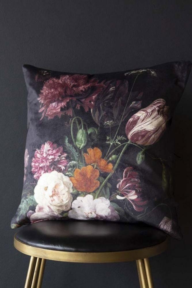 Floral Bouquet Velvet Cushion Rockett St George