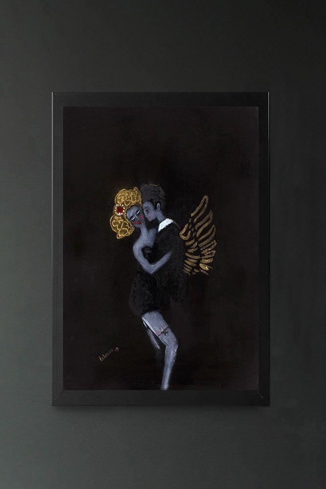 Image of the Like A Ghost In My Dreams by Rebecca Sophie Leigh in a frame hung on the wall