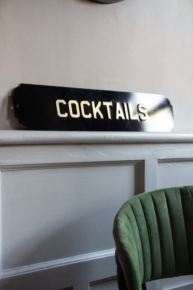 Image of the Cocktails Metal Sign Wall Art