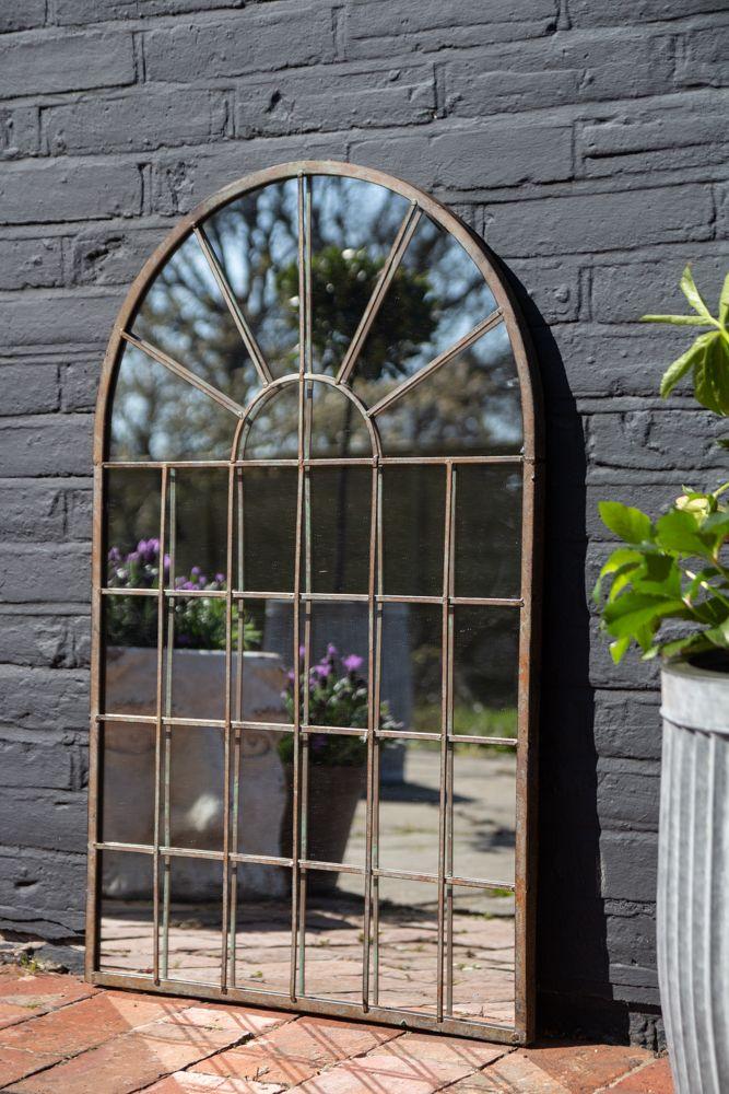 Image of the Windowpane Arch Indoor/Outdoor Mirror