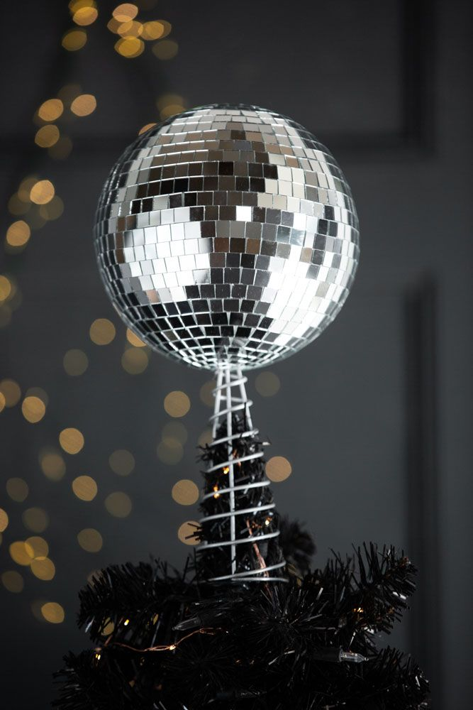 Lifestyle image of the Disco Ball Tree Topper