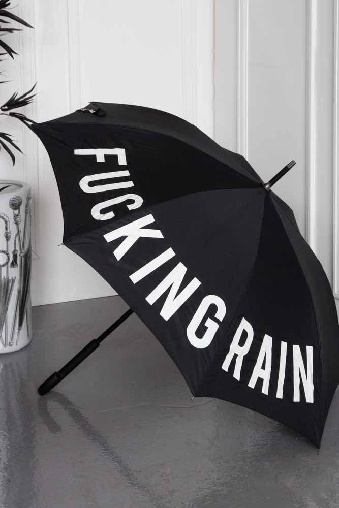 Image of the Fucking Rain Umbrella open