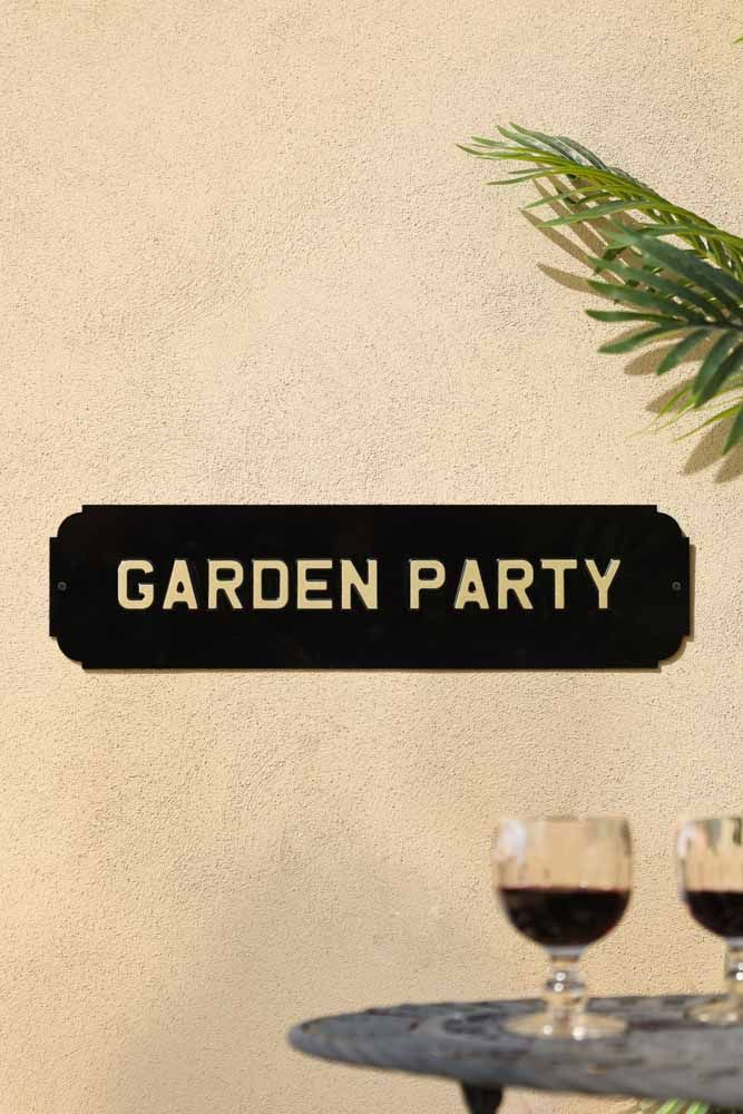 Image of the Garden Party Metal Sign Wall Art