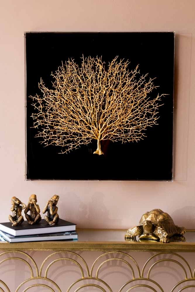 Gold Coral Boxed Wall Art Rockett St George