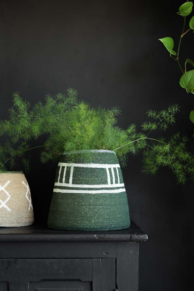 Image of the Green & Light Blue Storage Basket