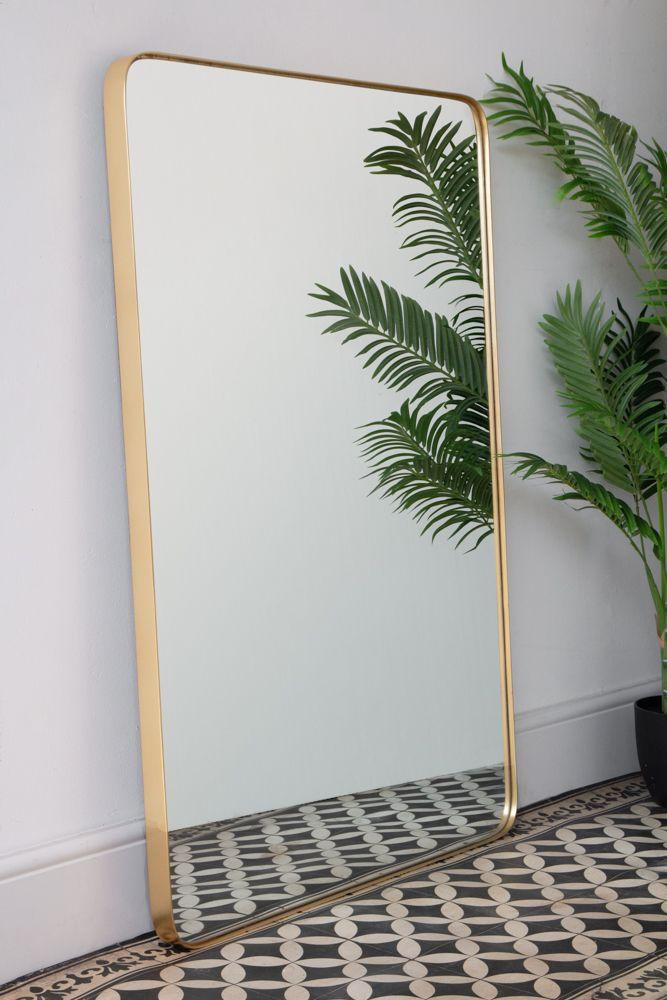 Large Rectangular Gold Framed Wall Mirror Rockett St George