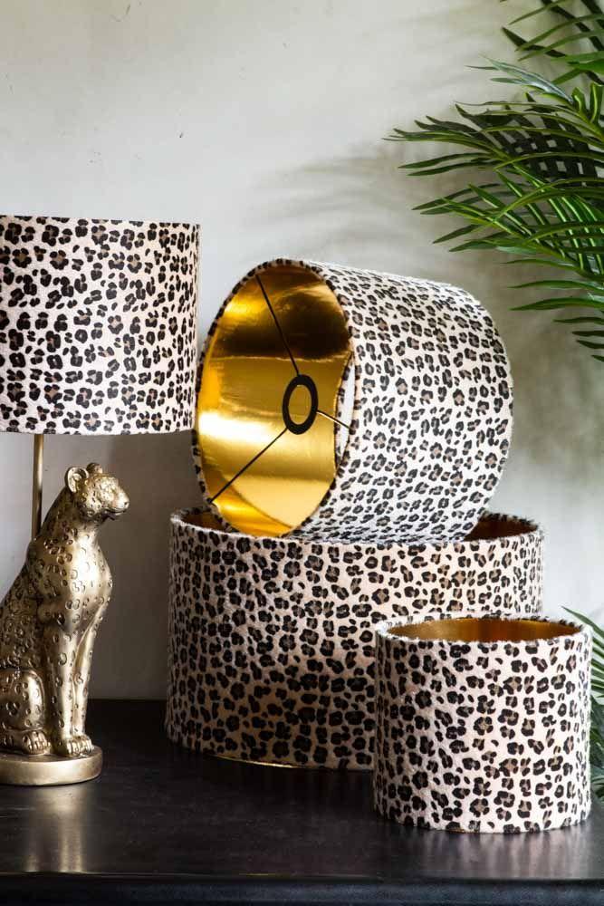 Leopard Love Drum Lamp Shade 3 Sizes, Leopard Print Lamp Shade Uk