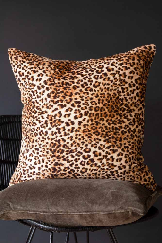 Leopard Love Leopard Print cushion Front Lifestyle in a chair
