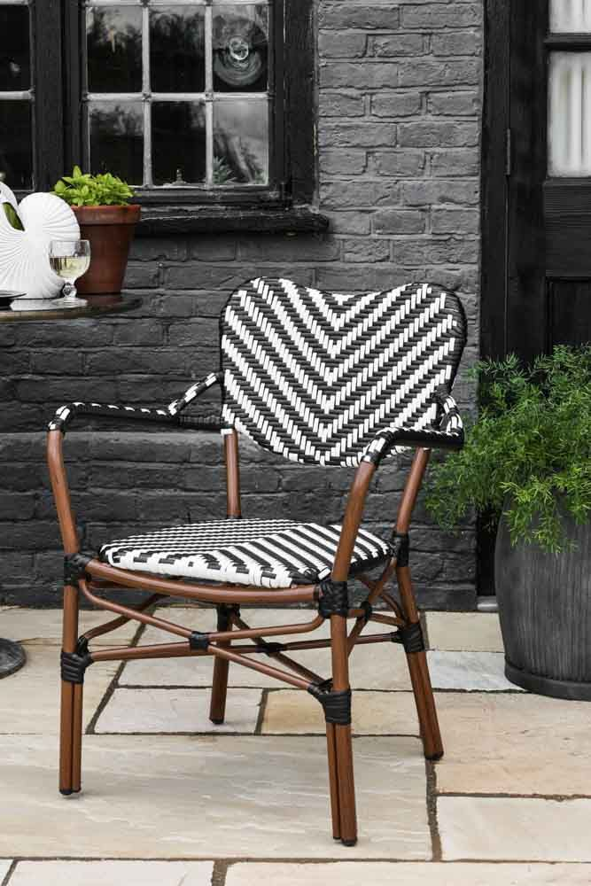 Lifestyle image of the Parisian Bistro Style Outdoor Dining Chair