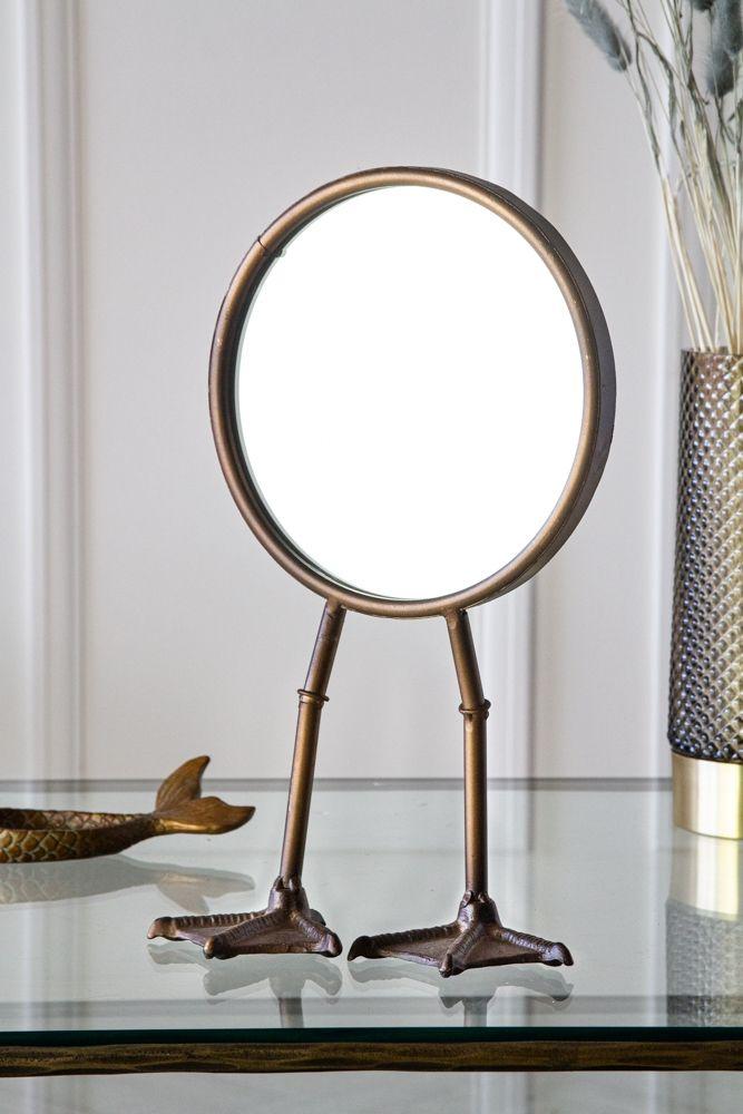 Bronze Bird Feet Table Vanity Mirror Rockett St George