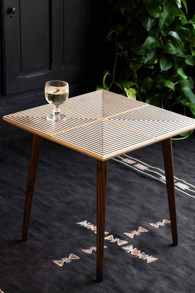 Lifestyle image of the Rockett St George Sustainable Square Side Table