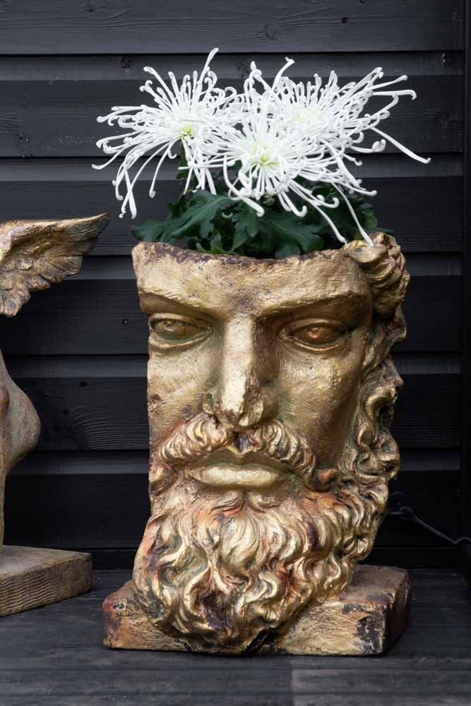Image of the Tall Gold Effect Classical Face Planter