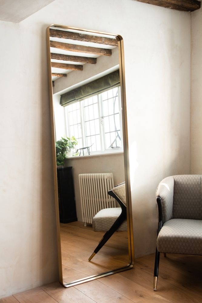 Tall Slim Full Length Mirror With, Full Length Mirror Oval Top
