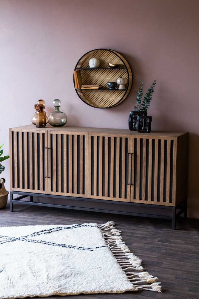 Lifestyle image of the Timber Strips Sideboard