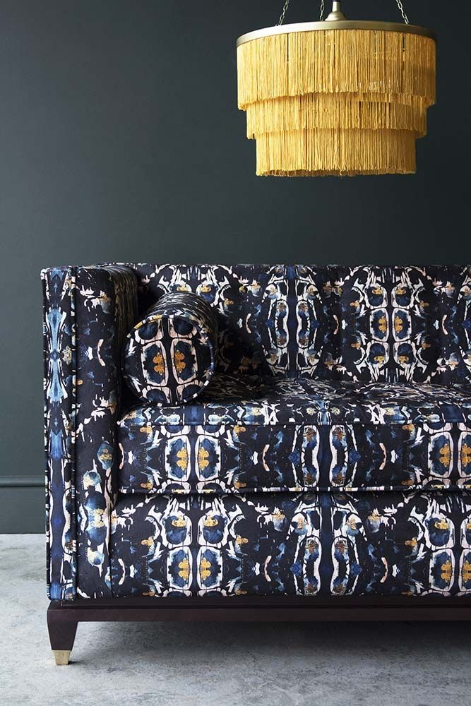 Lifestyle image of the right side of the Bespoke 1920's Style Sloane 3 Seater Sofa