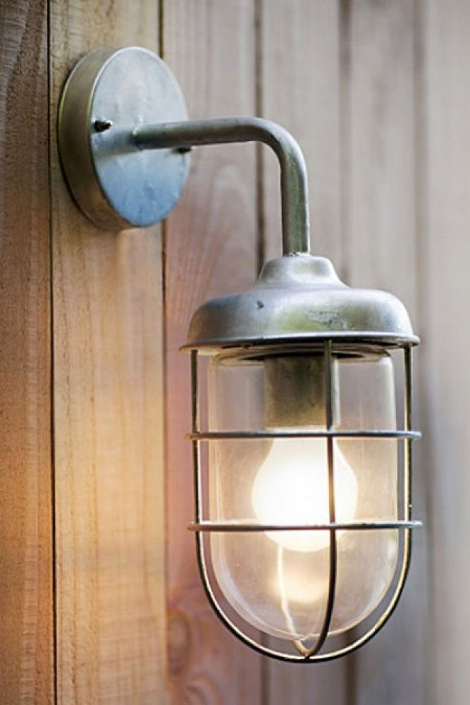 st ives hot dipped harbour wall light on pale wood wall background lifestyle image