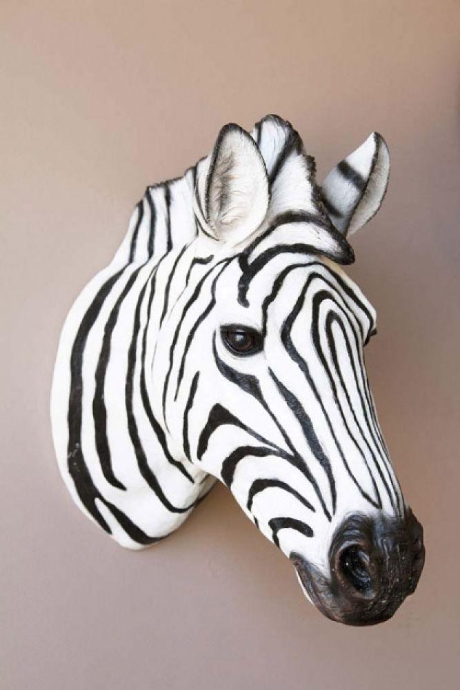 Zebra Head Wall Decoration