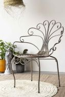 Distressed Style Metal Chair