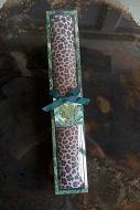 Image of the Set Of 4 Leopard Love Print Drawer Liners in the packaging