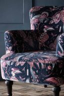 Close-up image of the Audubon Dalston Pink Armchair By Emma J Shipley