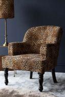 Lifestyle image of the Rockett St George Leopard Love Leopard Print Armchair