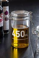 450ML Air Tight Glass Storage Jar