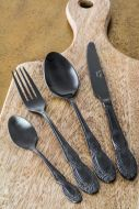 Image of the Antique Black 4-Piece Cutlery Set