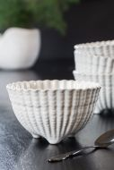Image of the Antique White Ceramic Footed Bowl
