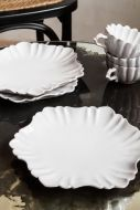 Image of the Antique White Traditional Lily Plates with the Antique White Traditional Lily Mugs
