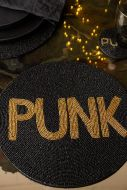 Image of the Punk Glamorous Round Beaded Placemat