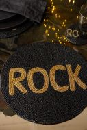Image of the Rock Glamorous Round Beaded Placemat