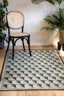 Lifestyle image of the Beija Vinyl Large Floor Runner - Antique Geometric