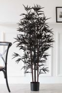 Image of the Black Faux Bamboo Plant