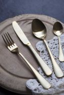 Image of the 4-Piece Modern Gold Stainless Steel Cutlery Set