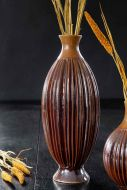 Image of the Ceramic Burnt Orange Tall Glazed Vase