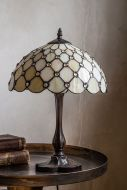 Lifestyle image of the vintage style Cream Jewelled Art Deco Tiffany-Style Lamp