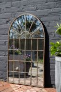 Image of the Windowpane Arch Indoor/Outdoor Mirror