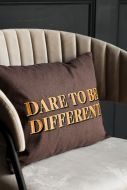 Image of the Dare To Be Different Embroidered Brown Cushion
