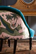 Close-up image of the back of the Lynx Soho Cocktail Chair By Emma J Shipley
