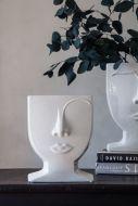 Image of the Female Ceramic Face Vase