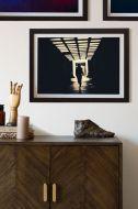 Image of the Running Art Print Framed