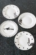Image of the Set Of 4 Animal Plates