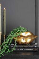 Lifestyle image of the Gold Lips Short Stem Vase