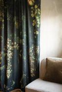 Lifestyle image of the Grape Vine Velvet Curtain Panel