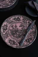 Lifestyle image of the Dusky Pink Sakura Cherry Blossom Dinner Plate showing the full plate