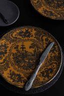 Lifestyle image of the Mustard Yellow Sakura Cherry Blossom Dinner Plate