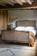 Image of the King Size Roll Top Woven Cane Bed