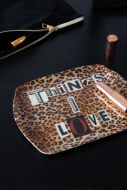 Lifestyle image of the Leopard Things I Love Tray