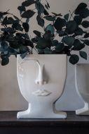 Lifestyle image of the Male Ceramic Face Vase